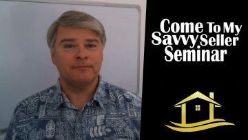 Savvy Seller Seminar in January 2019