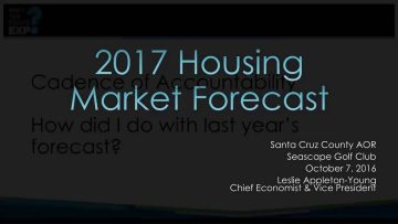 California 2017 Real Estate Market Forecast